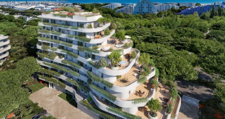 Achat / Vente immobilier neuf La Grande-Motte proche de la plage du Couchant (34280) - Réf. 5949