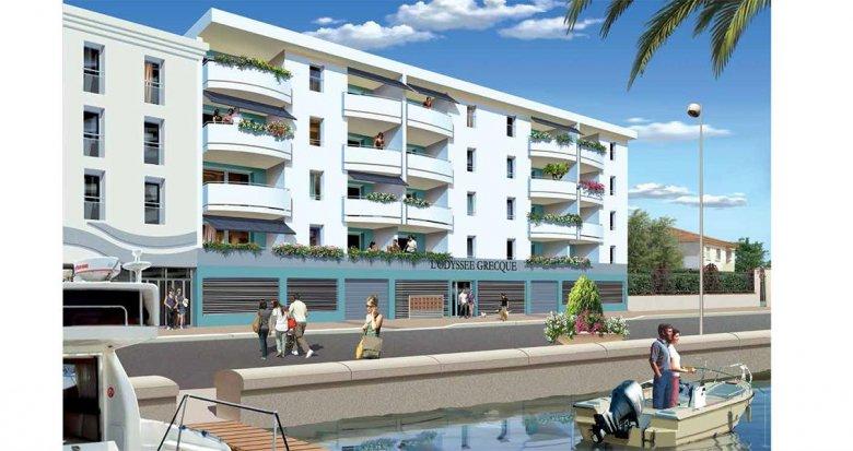 Achat / Vente immobilier neuf Palavas-les-Flots au bord de l'eau (34250) - Réf. 957