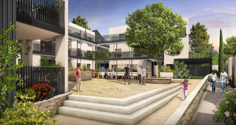 Achat / Vente immobilier neuf Saint-Jean-de-Védas proche parc de la Peyrière (34430) - Réf. 1835